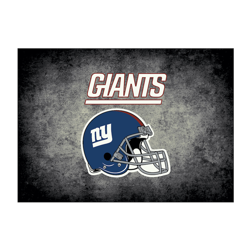 New York Giants 4 X 6 DISTRESSED Rug