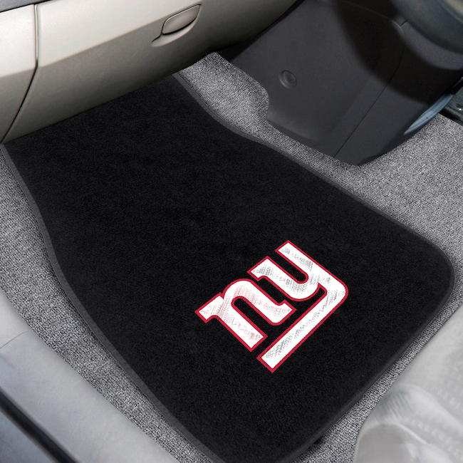 New York Giants Car Floor Mats 17 x 26 Embroidered Pair
