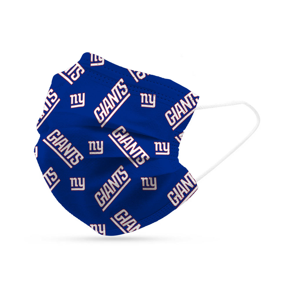 New York Giants Disposable Face Covering Masks (pk of 6)