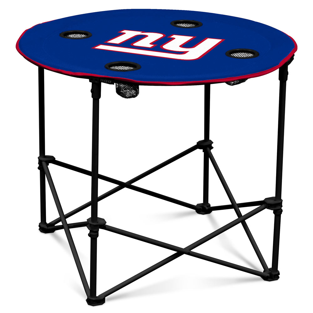 New York Giants Round Tailgate Table
