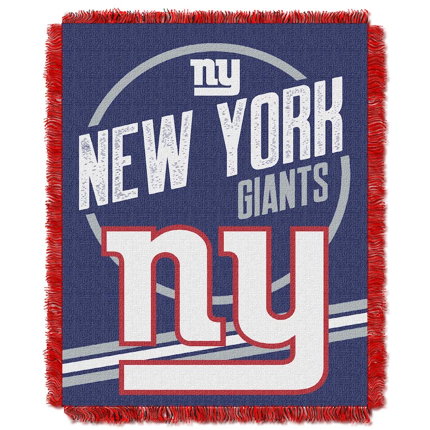 New York Giants Double Play Tapestry Blanket 48 x 60