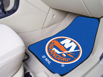 New York Islanders Car Floor Mats 18 x 27 Carpeted-Pair