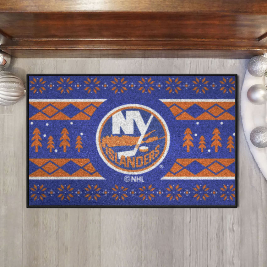 New York Islanders HOLIDAY SWEATER 20 x 30 STARTER Floor Mat