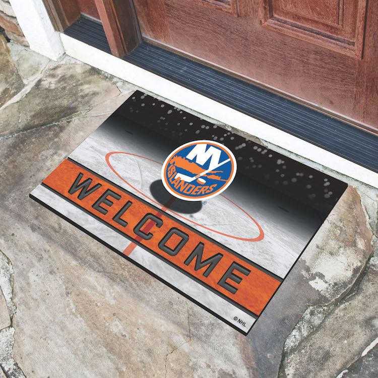 New York Islanders Recycled Crumb Rubber Door Mat