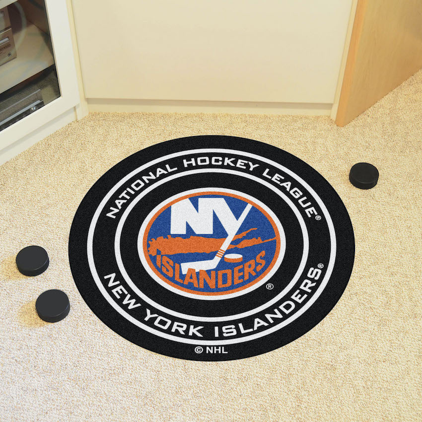 New York Islanders Round Hockey Puck Mat