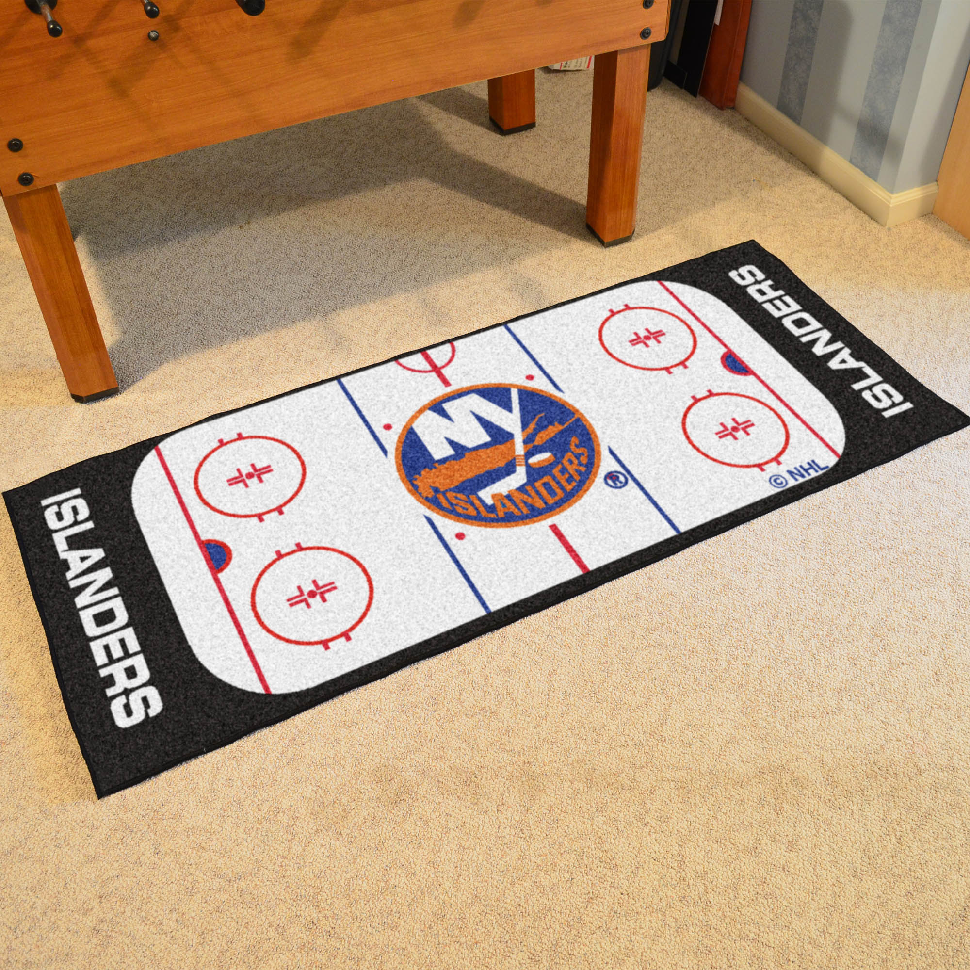 New York Islanders 30 x 72 Hockey Rink Carpet Runner