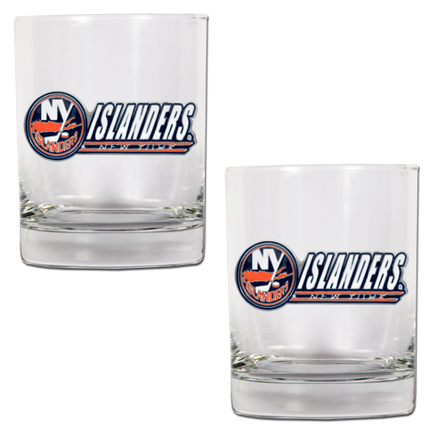 New York Islanders NHL Logo 2pc Rocks Glass Set