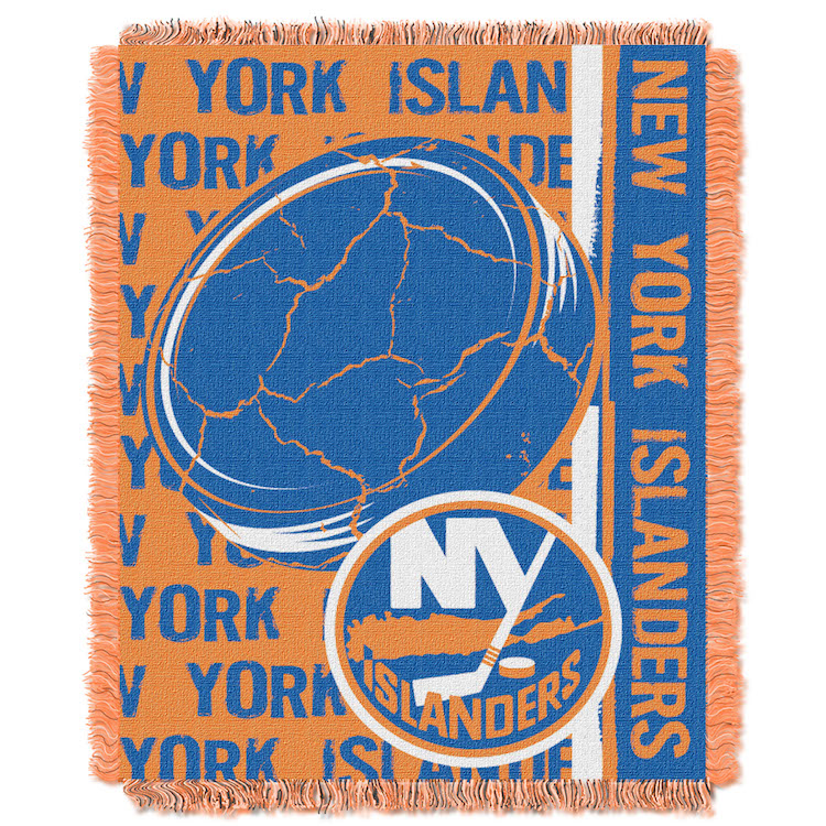 New York Islanders Double Play Tapestry Blanket 48 x 60