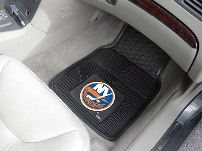 New York Islanders Car Floor Mats 18 x 27 Heavy Duty Vinyl Pair