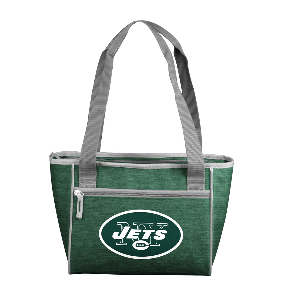 New York Jets Crosshatch 16 Can Cooler Tote