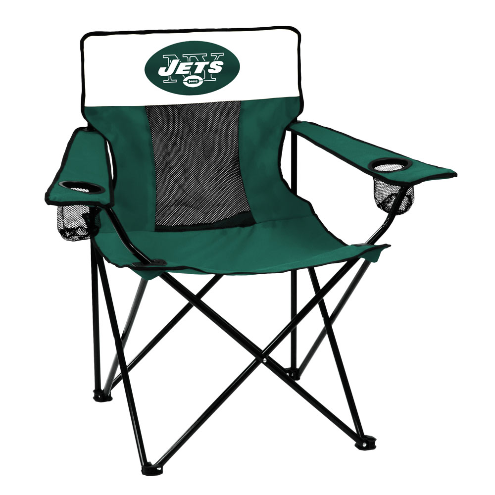 New York Jets ELITE logo folding camp style chair