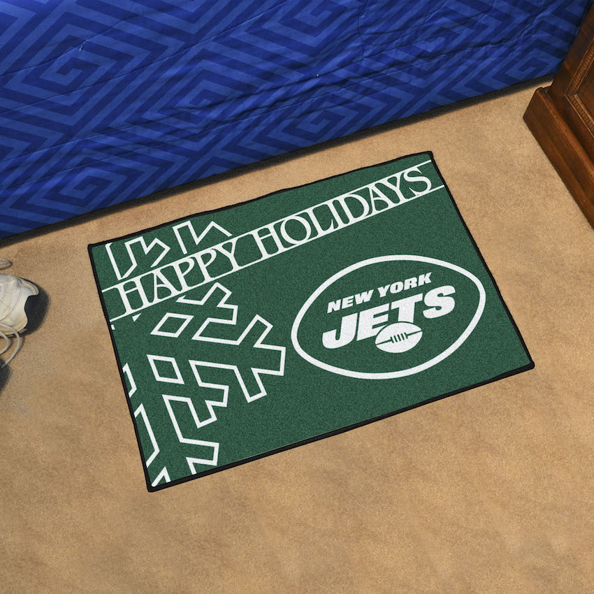 New York Jets Holiday Floor Mat