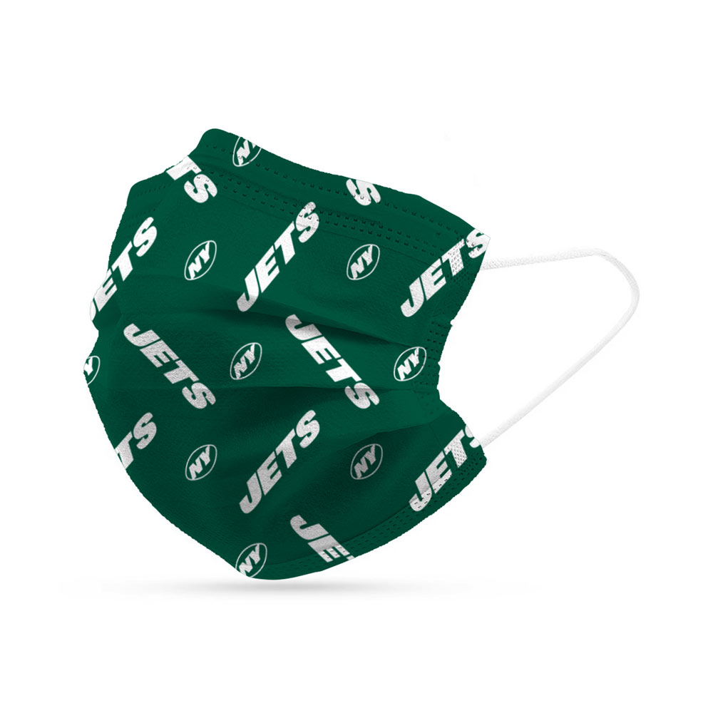 New York Jets Disposable Face Covering Masks (pk of 6)