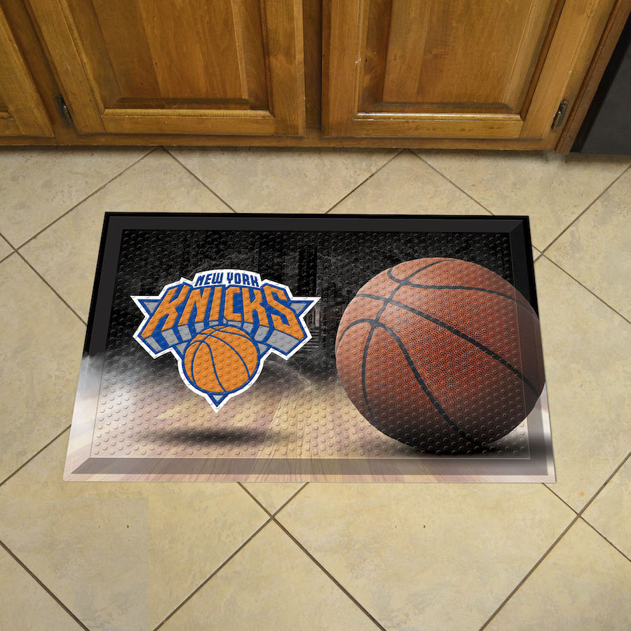New York Knicks Ball Style SCRAPER Door Mat