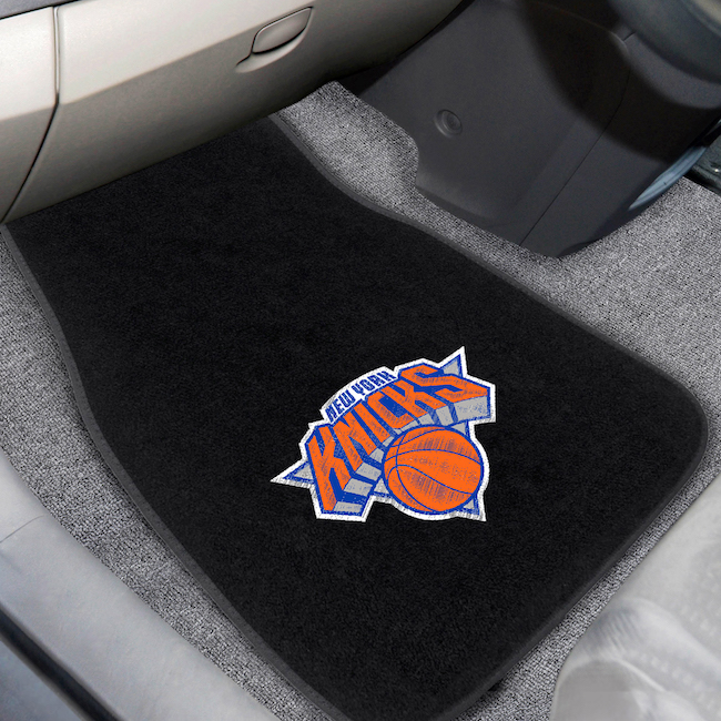 New York Knicks Car Floor Mats 17 x 26 Embroidered Pair