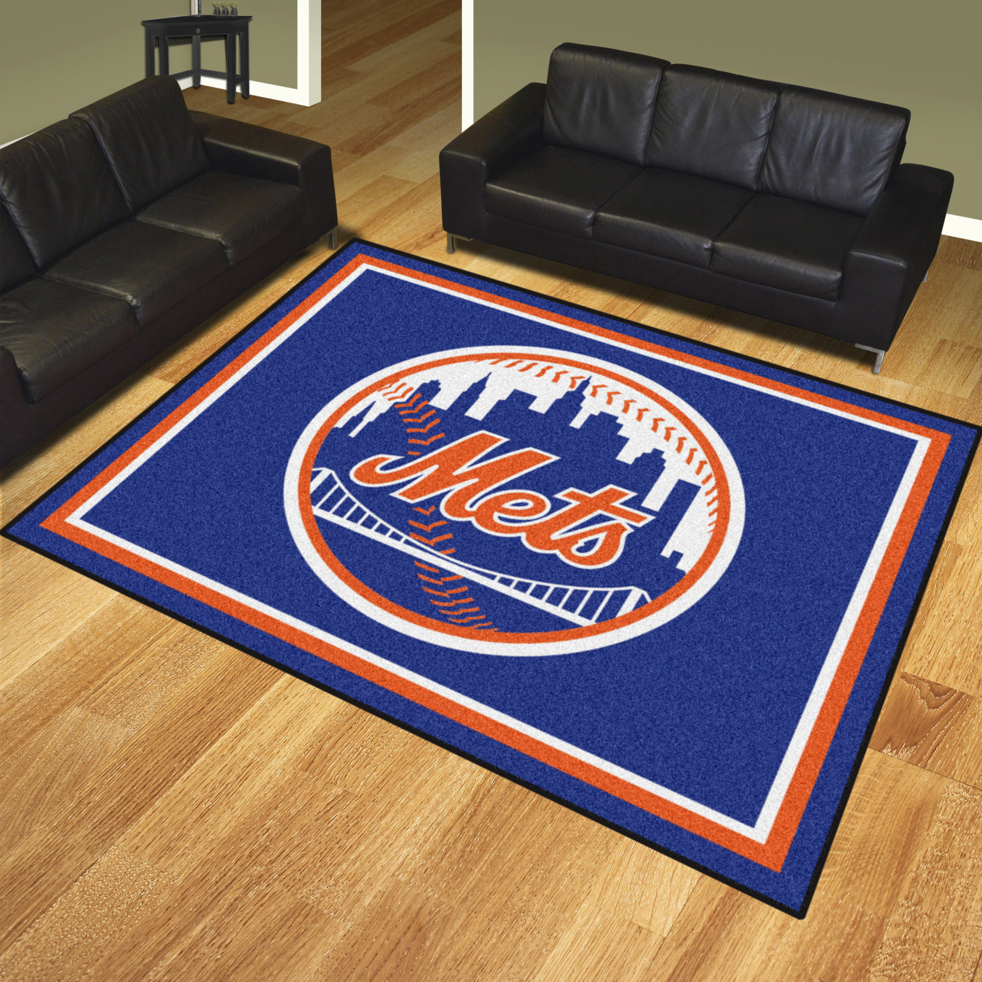 New York Mets Ultra Plush 8x10 Area Rug