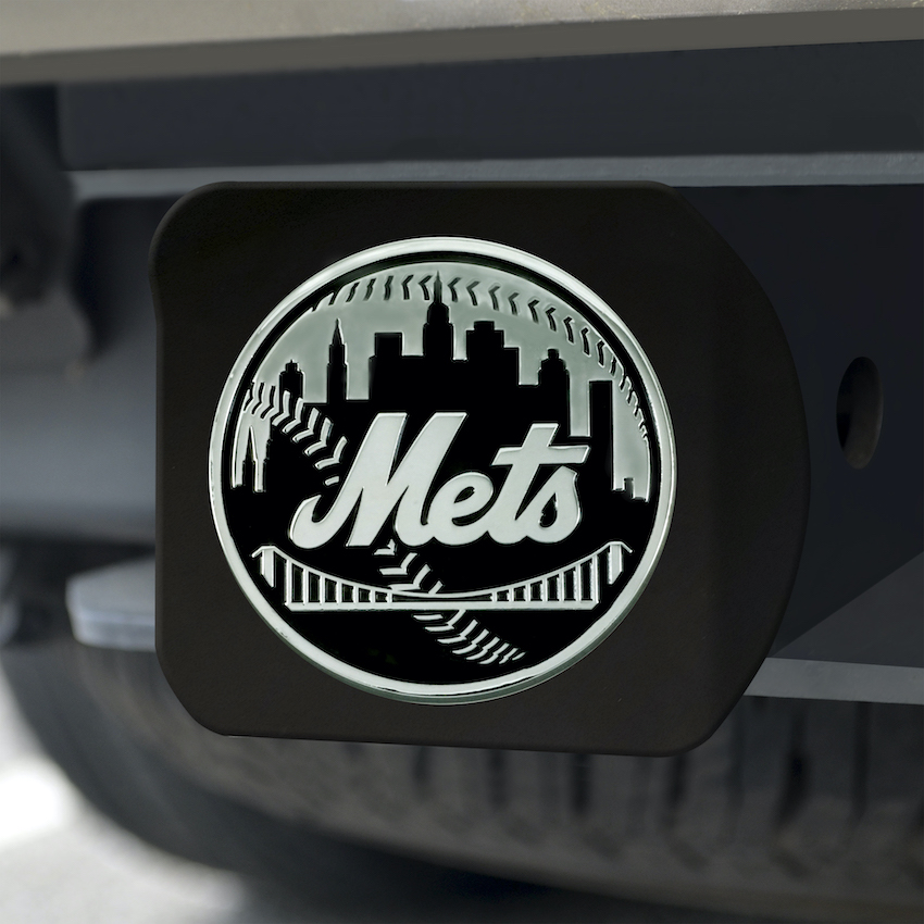 New York Mets BLACK Trailer Hitch Cover