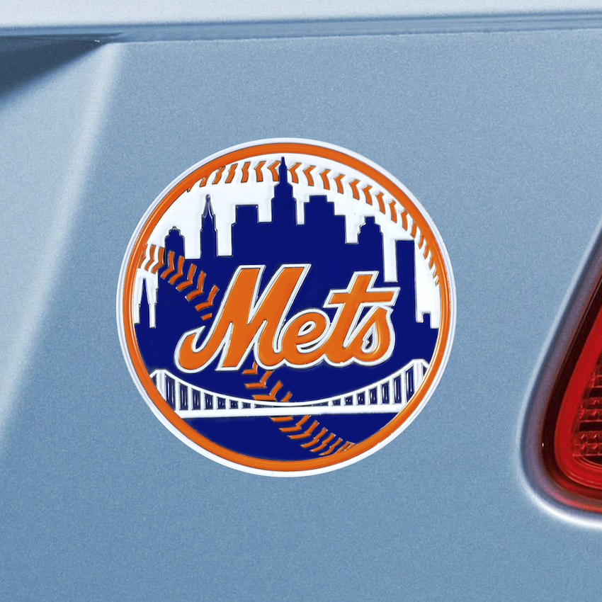 New York Mets Color Metal Auto Emblem