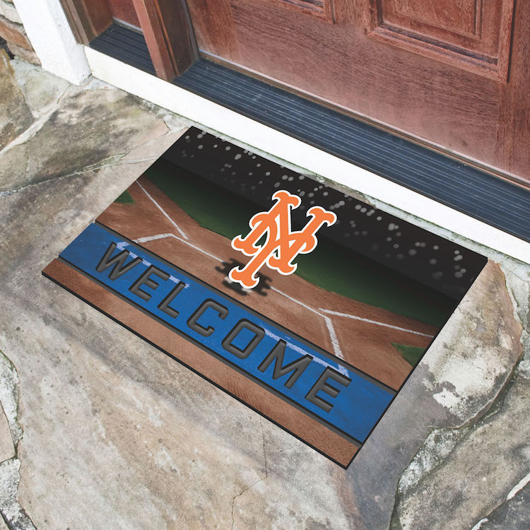 New York Mets Recycled Crumb Rubber Door Mat