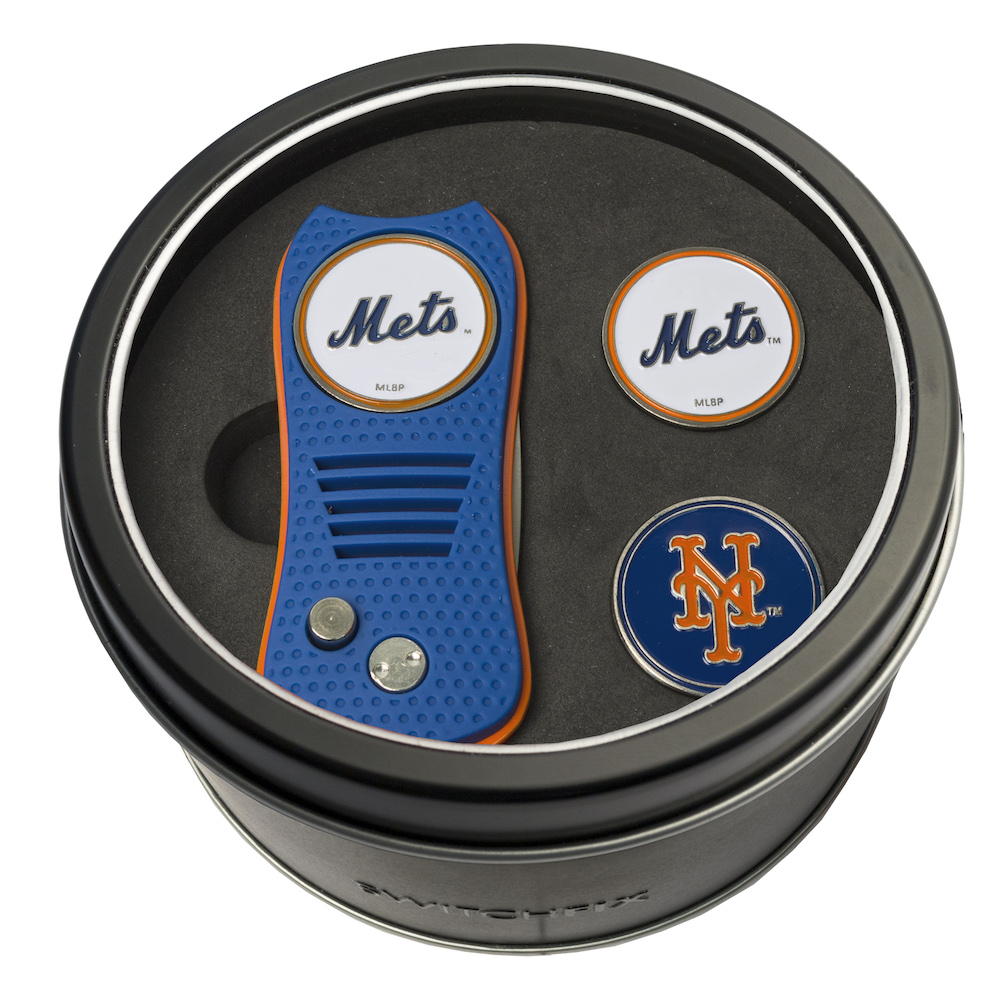 New York Mets Switchblade Divot Tool and 2 Ball Marker Gift Pack