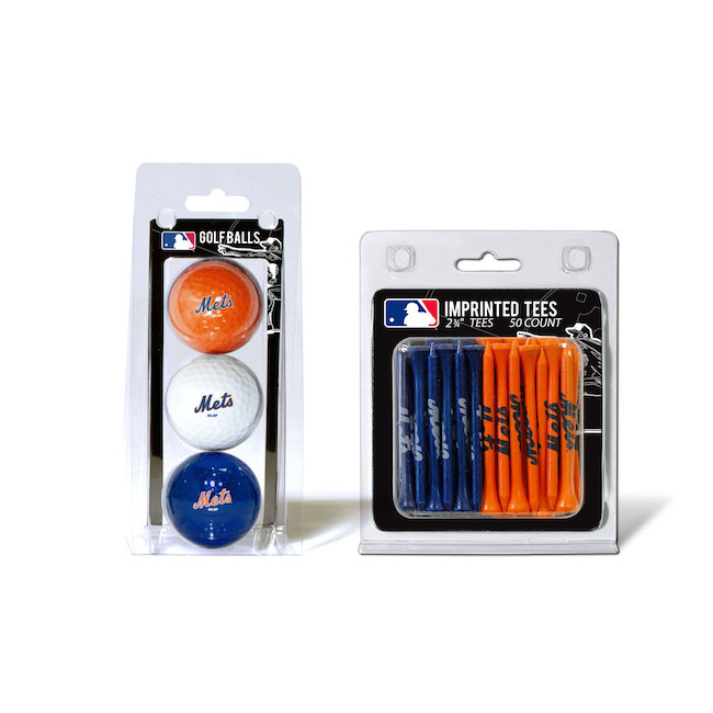 New York Mets 3 Ball Pack and 50 Tee Pack