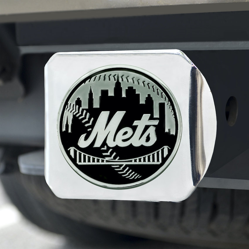 New York Mets Chrome Trailer Hitch Cover