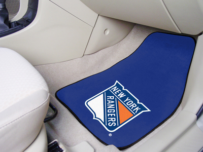 New York Rangers Car Floor Mats 18 x 27 Carpeted-Pair