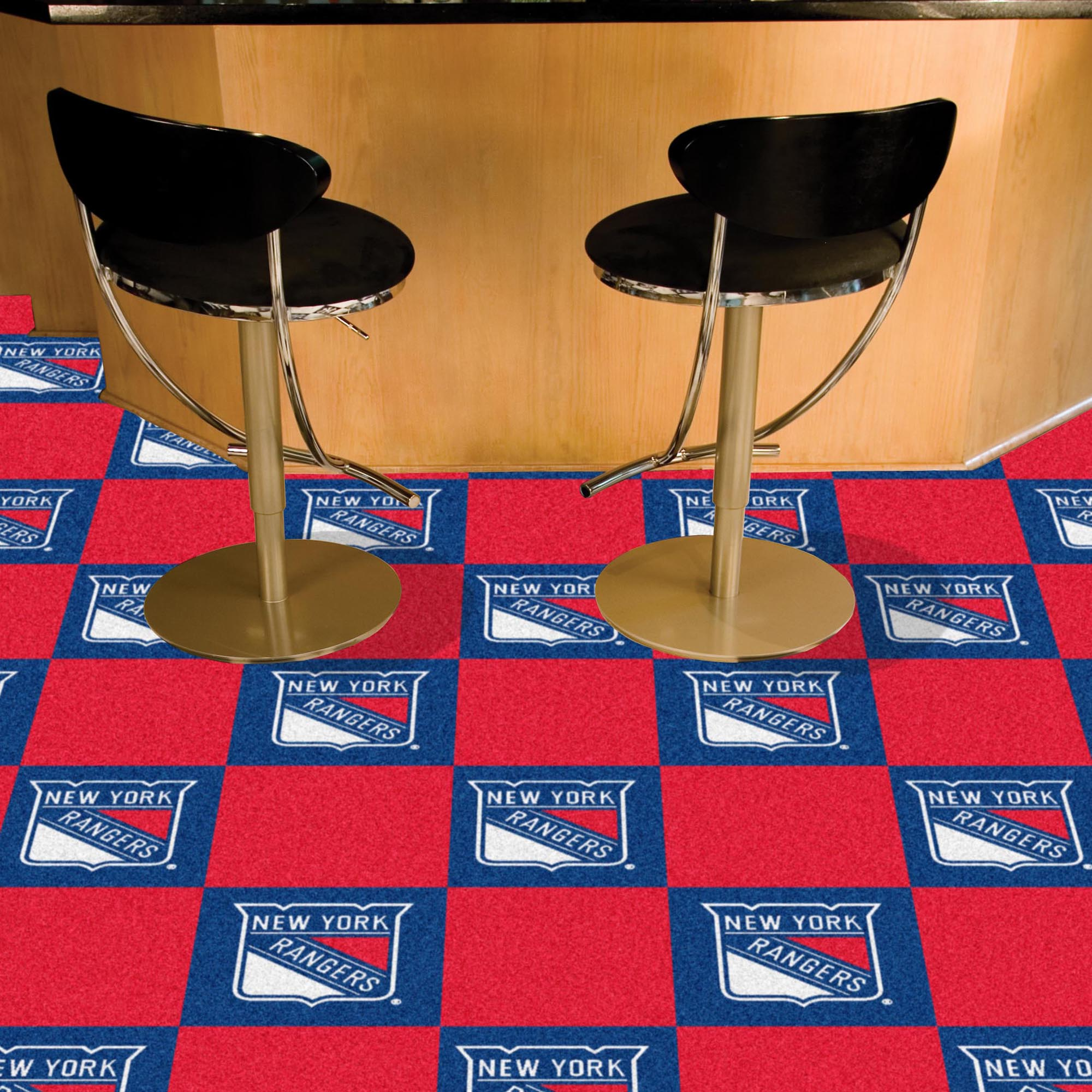 New York Rangers Carpet Tiles 18x18 in.
