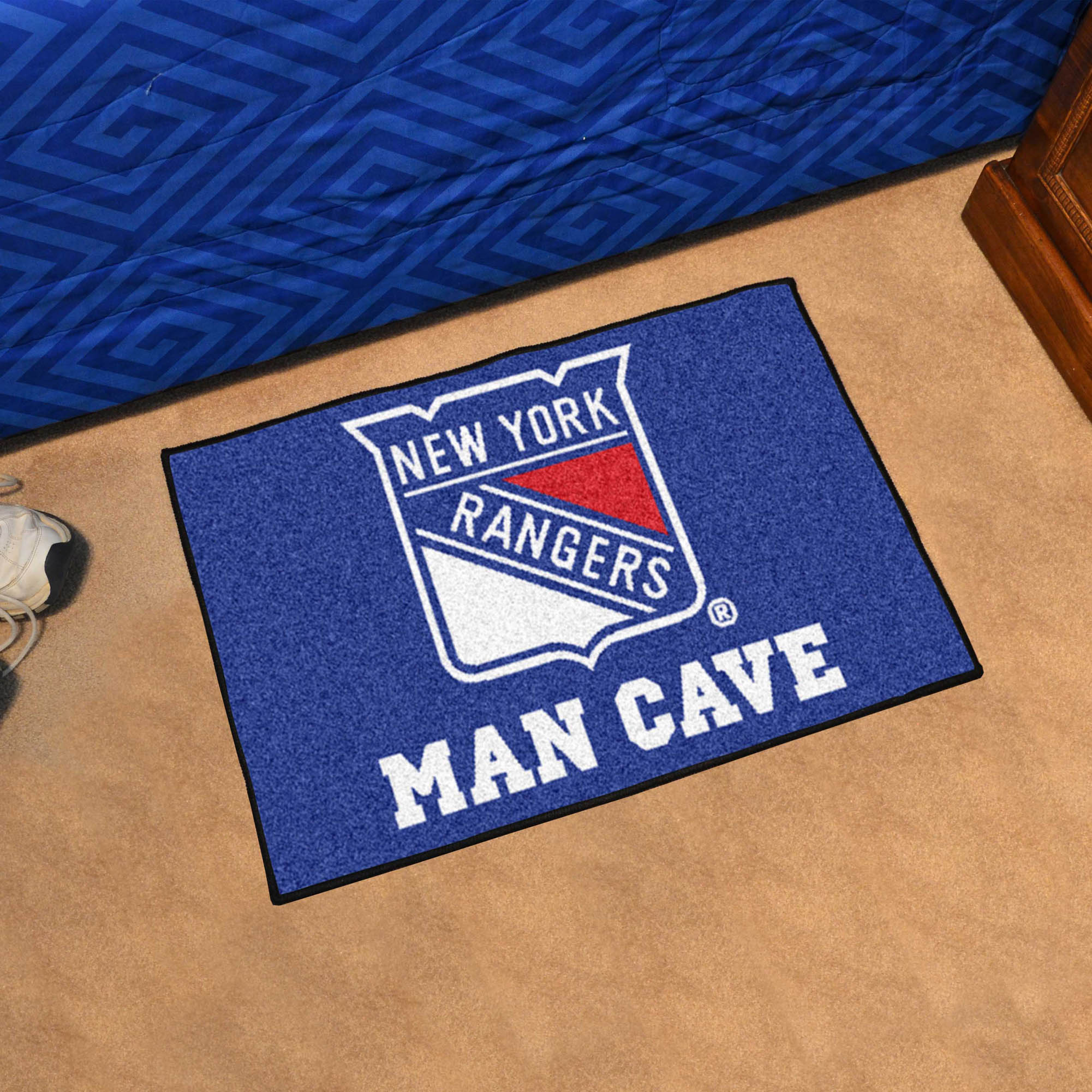 New York Rangers MAN CAVE 20 x 30 STARTER Floor Mat