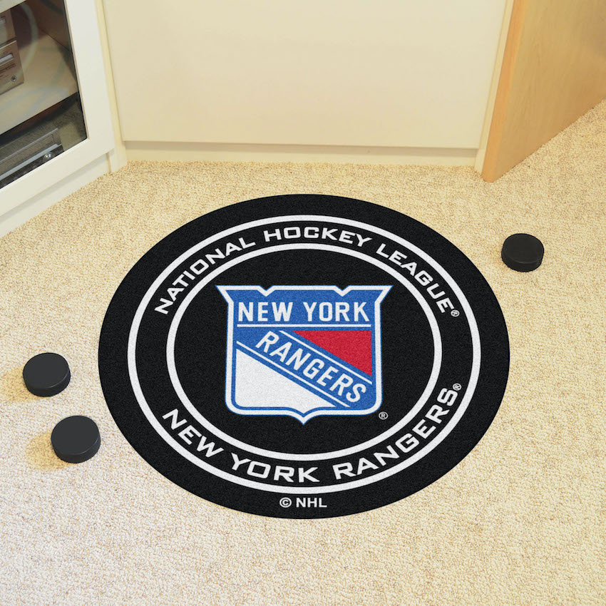 New York Rangers Round Hockey Puck Mat