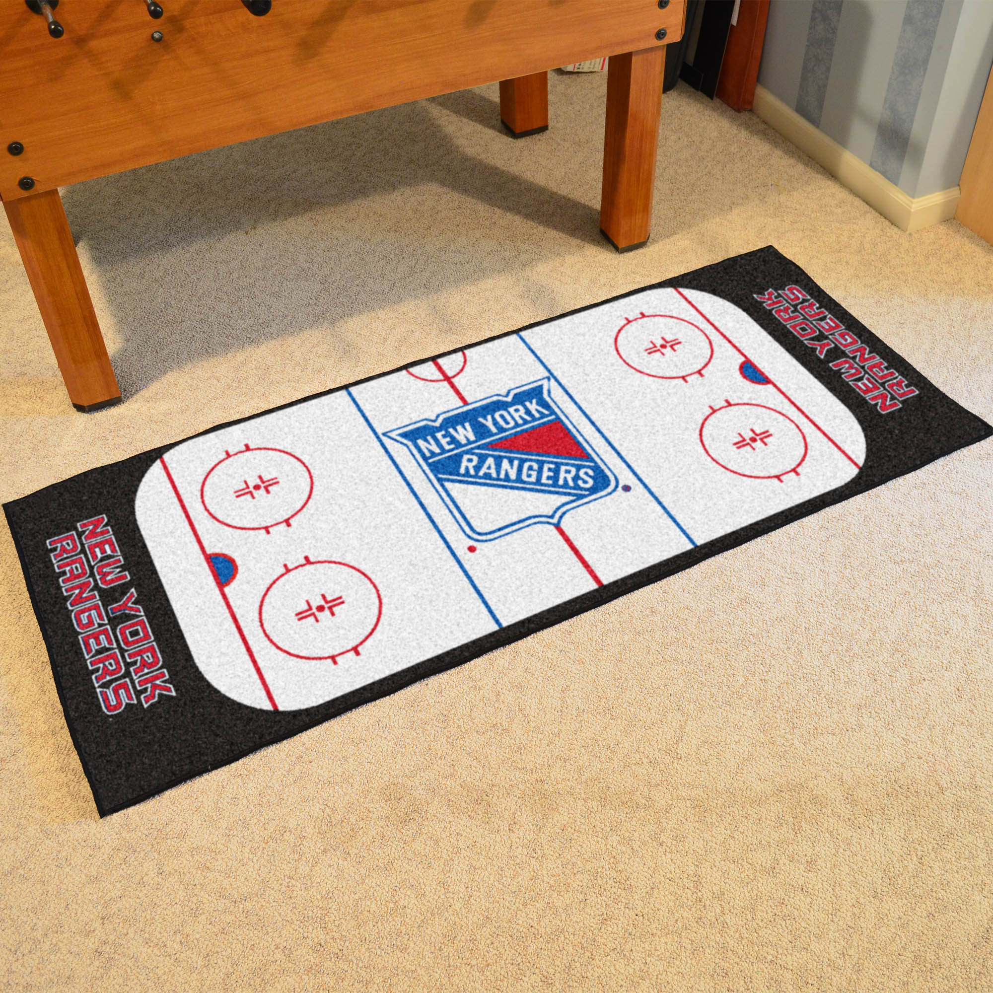 New York Rangers 30 x 72 Hockey Rink Carpet Runner