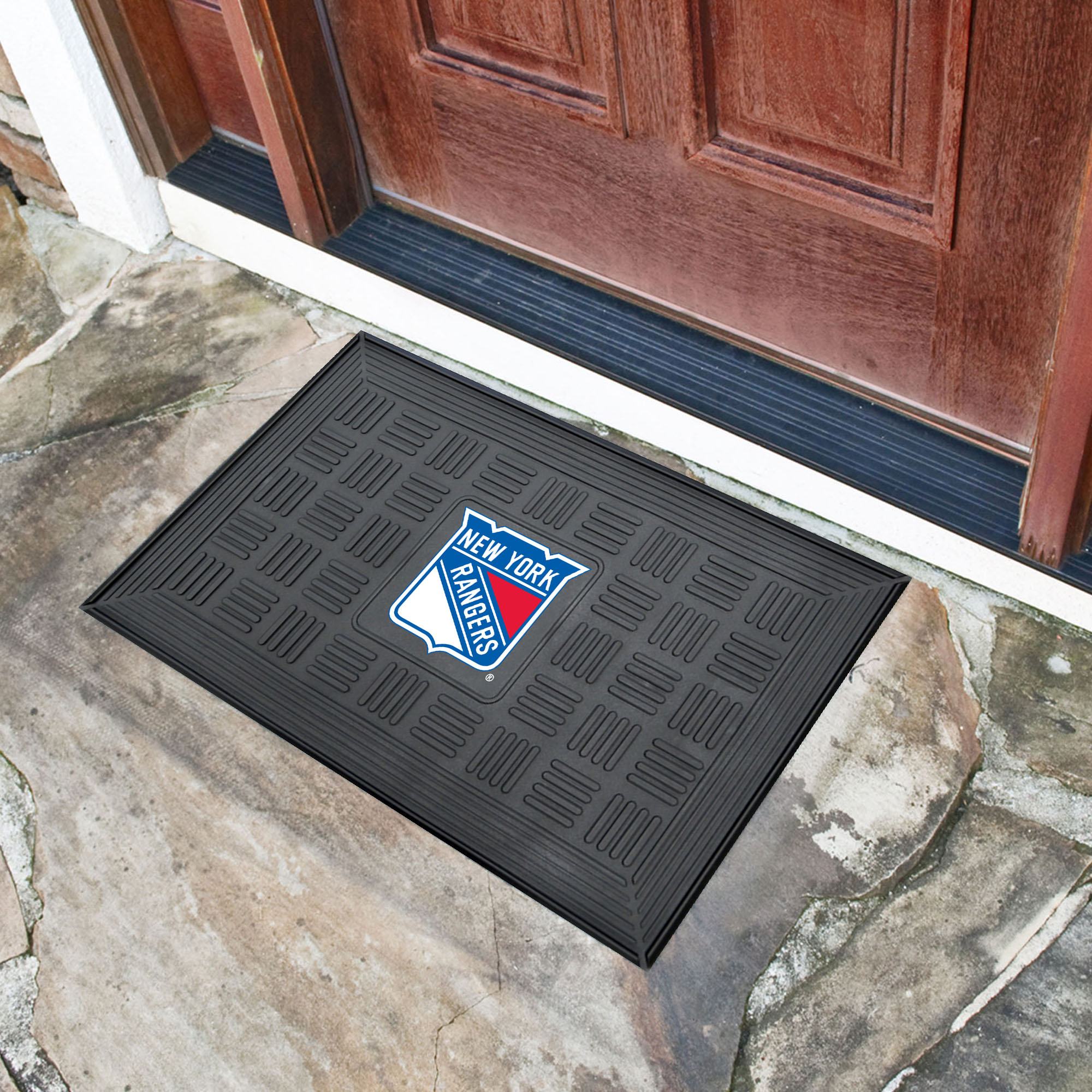 New York Rangers MEDALLION Vinyl Door Mat