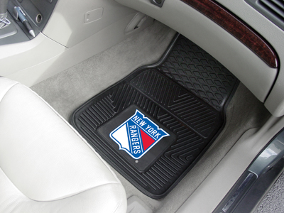 New York Rangers Car Floor Mats 18 x 27 Heavy Duty Vinyl Pair