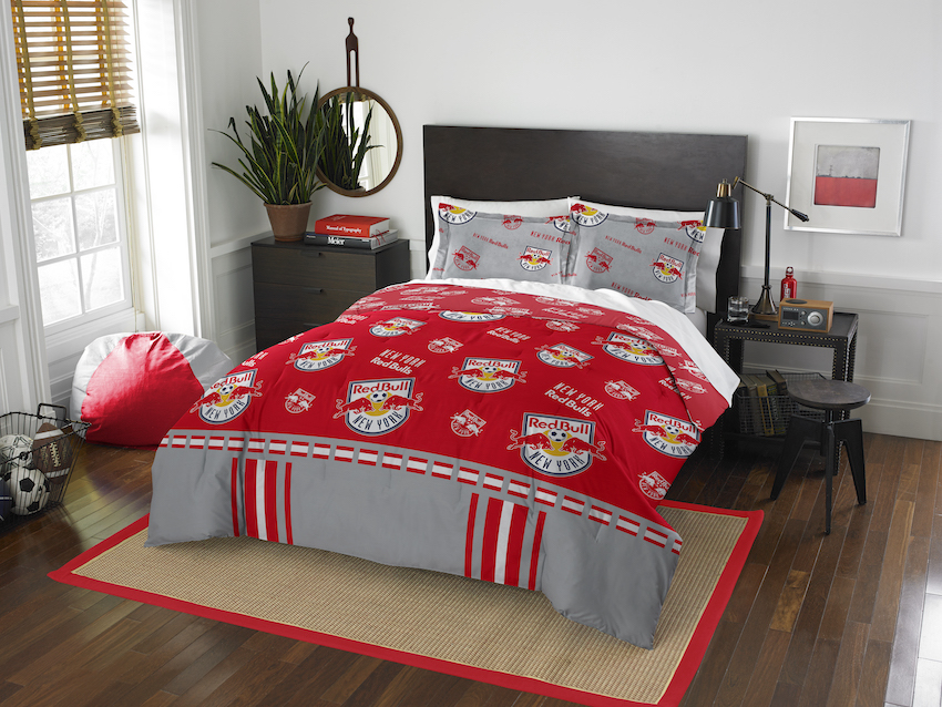 New York Red Bulls QUEEN/FULL size Comforter and 2 Shams