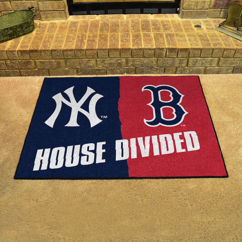 MLB House Divided Rivalry Rug New York Yankees - Boston Red Sox