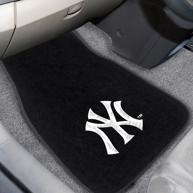 New York Yankees Car Floor Mats 17 x 26 Embroidered Pair