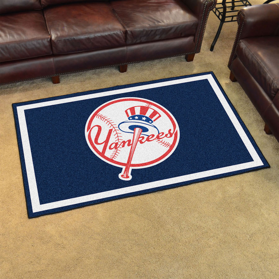 New York Yankees Top Hat 4x6 Area Rug