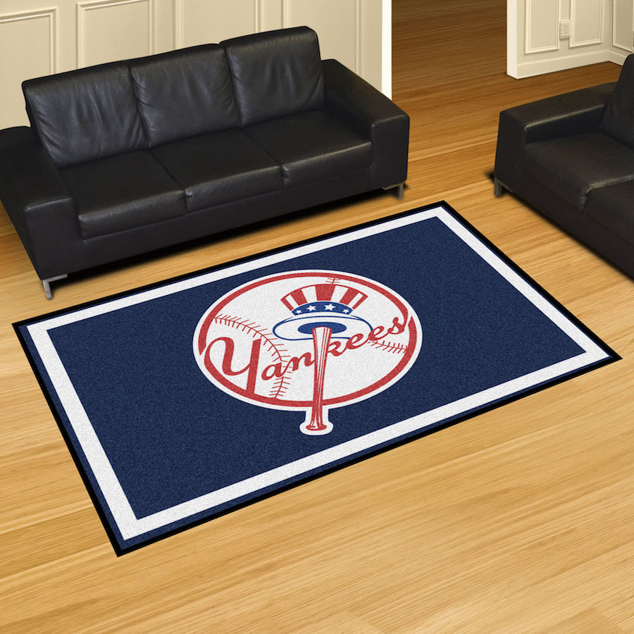 New York Yankees Top Hat 5x8 Area Rug