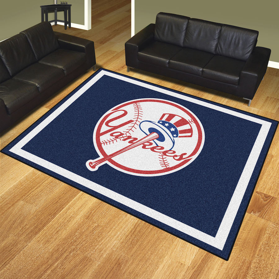New York Yankees Top Hat Ultra Plush 8x10 Area Rug