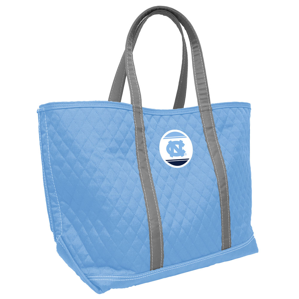 North Carolina Tarheels Collapsible Round Table with 4 Cup Holders and Carry Bag Carolina Blue White