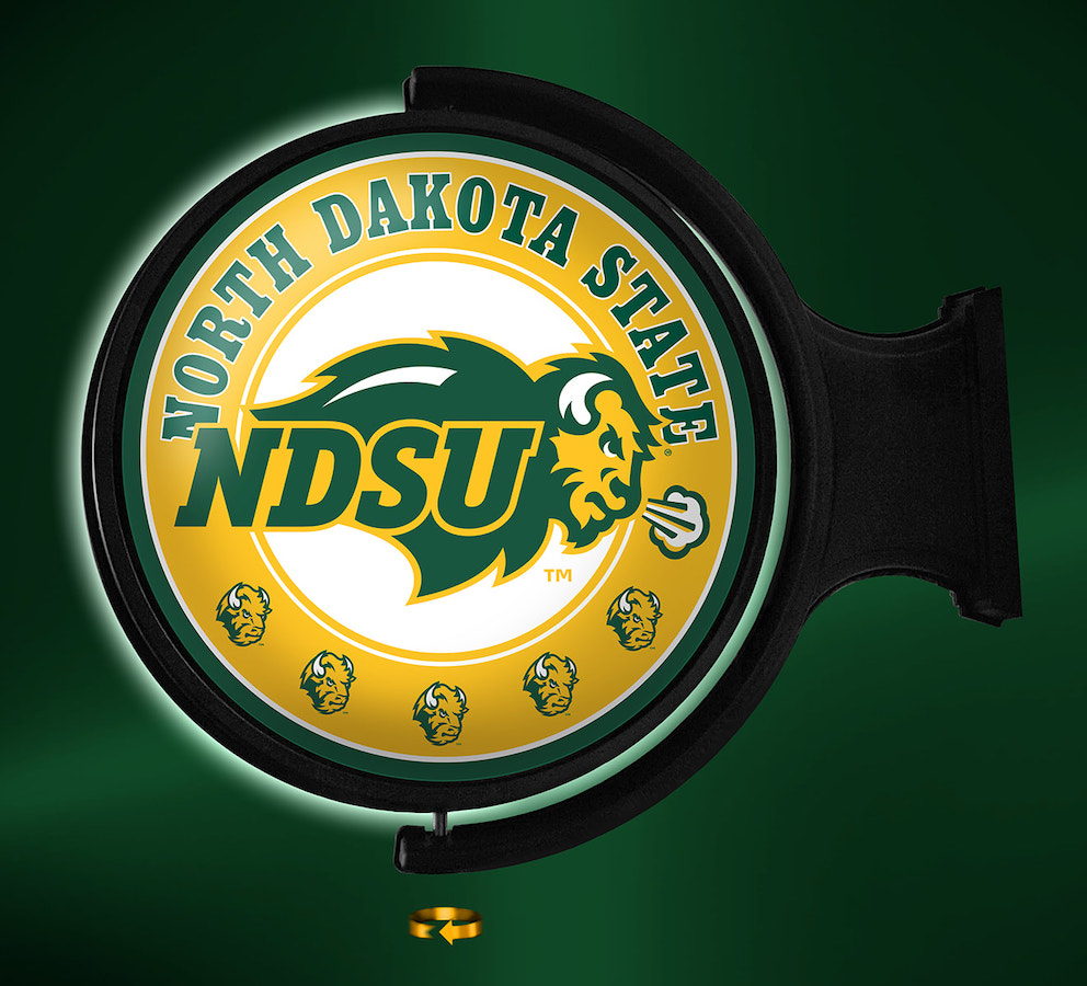 North Dakota State Bison LED Rotating Wall Sign ~ PL