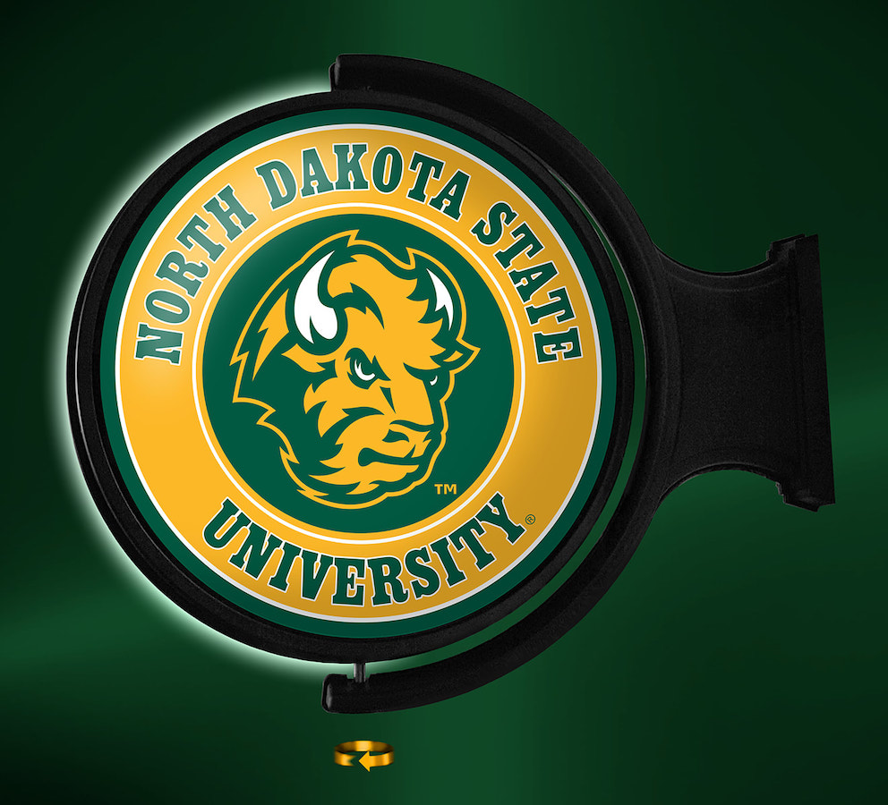 North Dakota State Bison LED Rotating Wall Sign ~ SL