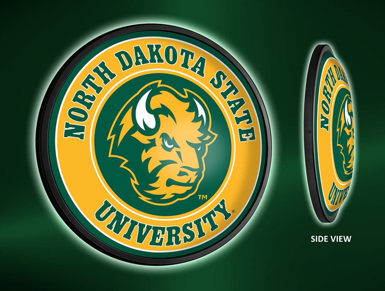 North Dakota State Bison Slimline LED Wall Sign ~ HEAD