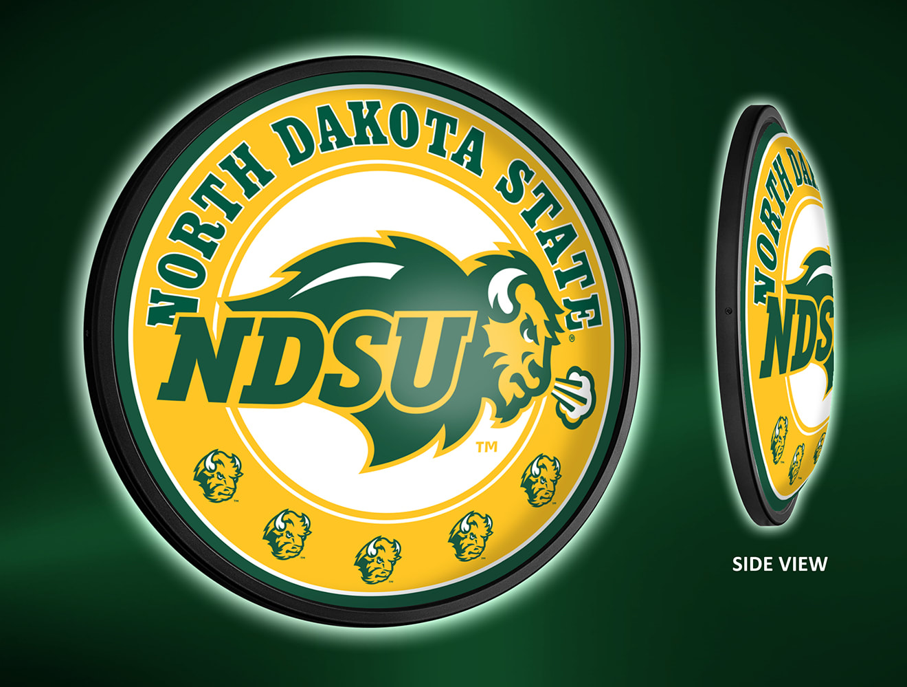 North Dakota State Bison Slimline LED Wall Sign ~ PL
