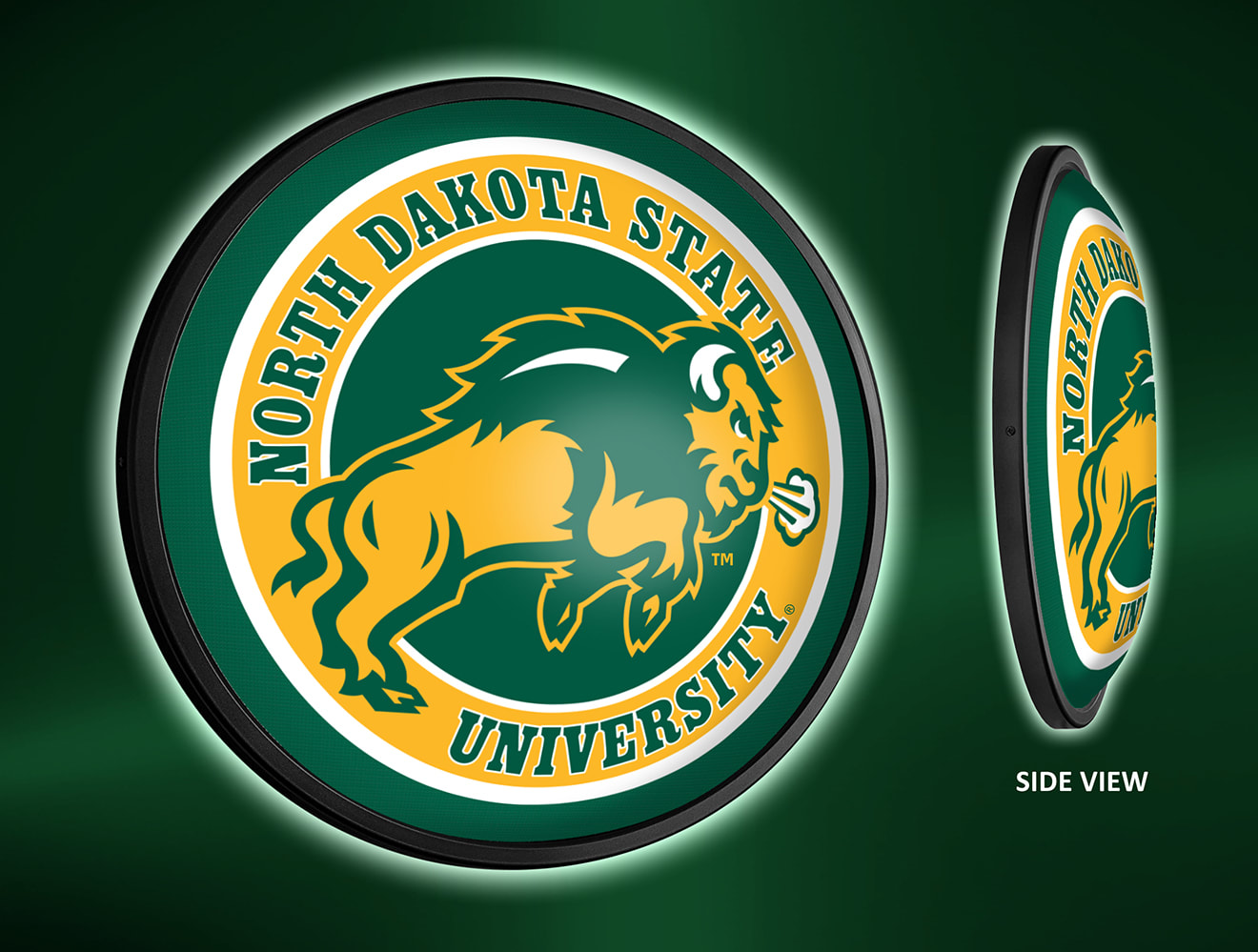 North Dakota State Bison Slimline LED Wall Sign ~ SLC