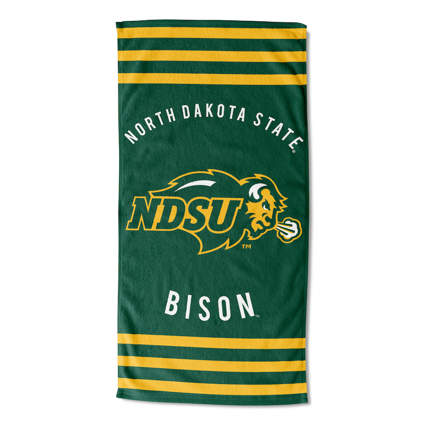 North Dakota State Bison Beach Towel