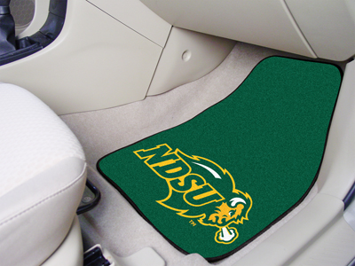 North Dakota State Bison Car Floor Mats 18 x 27 Carpeted-Pair