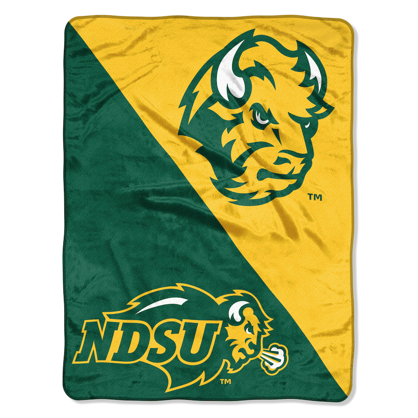 North Dakota State Bison Micro Raschel 50 x 60 Team Blanket