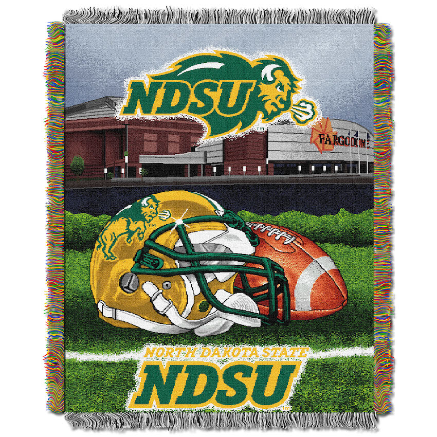 North Dakota State Bison Home Field Advantage Series Tapestry Blanket 48 x 60