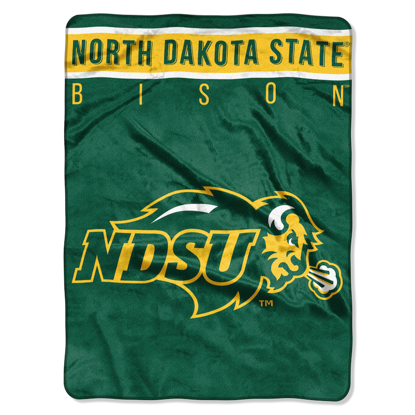 North Dakota State Bison Large Plush Fleece OVERTIME 60 x 80 Blanket